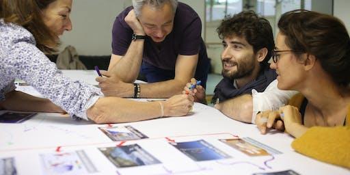 Atelier la Fresque du Climat à Mions avec Corinne Charvin et Arnaud Negrier