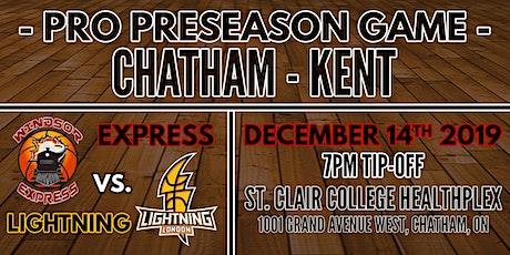 Chatham Preseason Game- Windsor Express vs. London Lightning tickets