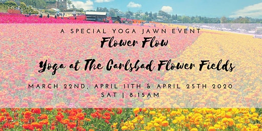 Flower Flow: Yoga at the Carlsbad Flower Fields March 22nd