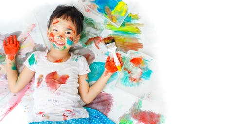 February Messy Art (Ages 2-5)