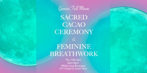 Full Moon Sacred Cacao Ceremony