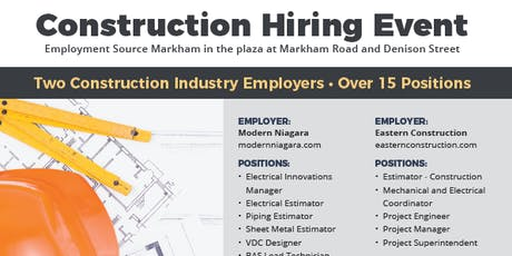 Construction Hiring Event tickets
