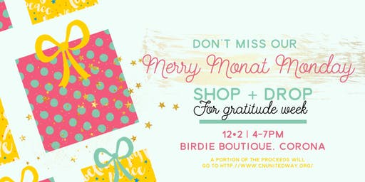 Merry Monat Monday | Shop + Drop for Gratitude Week