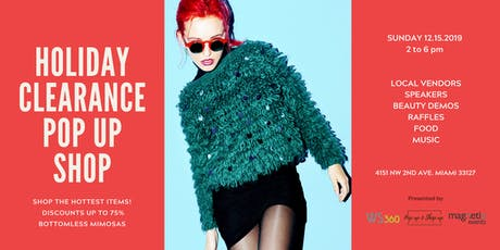 HOLIDAY CLEARANCE POP UP SHOP tickets