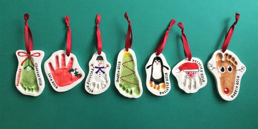 Christmas baby clay imprint session, BS3 (£30 for two decorations)