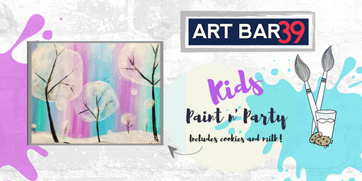 Kids Painting Party | Cotton Candy Land | Includes Cookies & Milk!