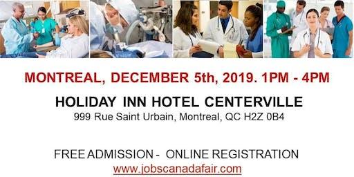 Montreal Healthcare Job Fair - December 05th, 2019