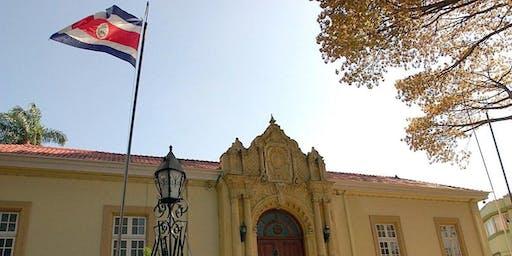 Develación Escudo Azul Protección al Patrimonio. Casa Amarilla