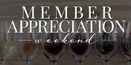 Member Appreciation Weekend tickets