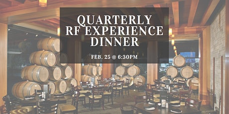 Quarterly R+F Experience Consultant Only Dinner  tickets
