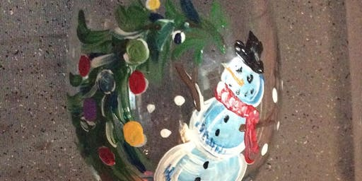 Snowman Glass Paint Party All Ages