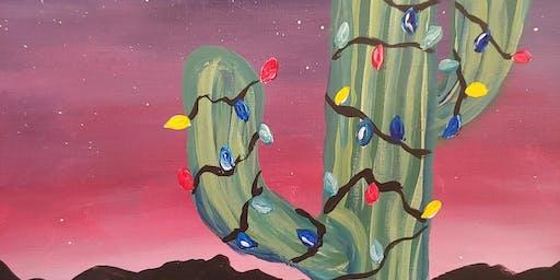 Paint & Sip - Festive Saguaro