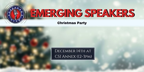 Emerging Speakers: Christmas Party tickets