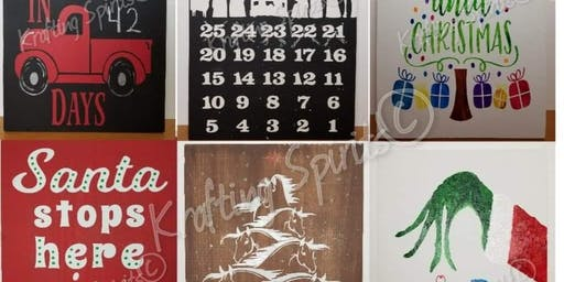 Christmas Countdown Sign Class or Rustic Turkey Sign