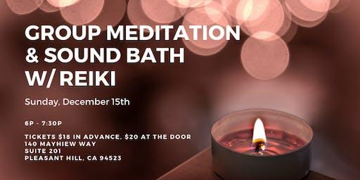 Group Meditation & Sound Bath with Reiki