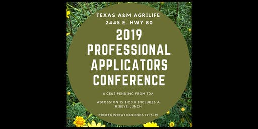2019 Professional Applicators Conference