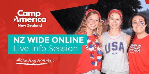 Live Online Information Session - Wed 3 December 2019