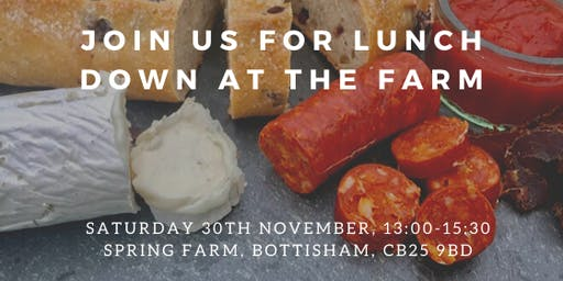 Join us for Lunch - Down on the Farm