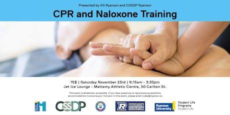CPR & Naloxone Training tickets
