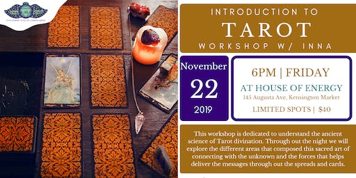 Intorduction to Tarot  Workshop w/ Inna