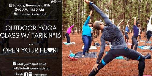 Outdoor yoga class in Rabat n°16: Open your Heart