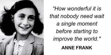 Talk and Tour; History for Today The Anne Frank Trust tickets