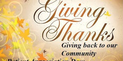 Giving Thanks - Patient Appreciation Day