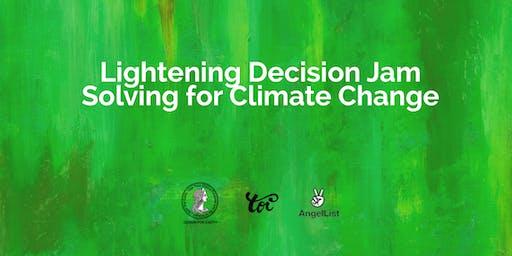 Lightening Design Jam Solving for Climate Change