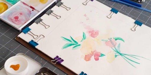 Basic Watercolor Florals