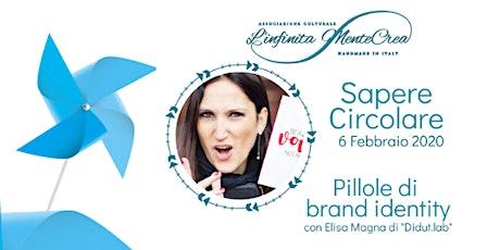 Pillole di brand identity con Elisa Magna di Didut.Lab biglietti