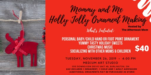Mommy & Me Holly Jolly Ornament Making Mini Holiday Party