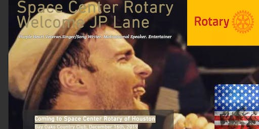 Rotary Club of Space Center Meeting featuring J.P. Lane