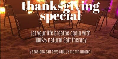Thanksgiving Special-salt cave therapy