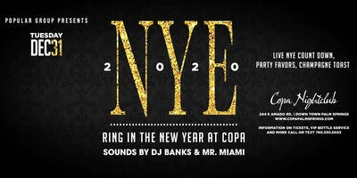 NYE 2020 at Copa Nightclub Palm Springs