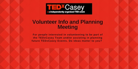 Volunteer Information and Planning Meeting tickets
