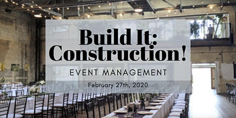 Build It: Construction! 2020 - Event Management  tickets