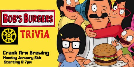 ***RESCHEDULED***Bob's Burgers Trivia at Crank Arm Brewing tickets
