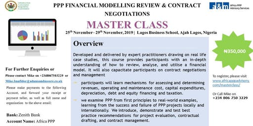 PPP FINANCIAL MODELLING REVIEW & CONTRACT NEGOTIATIONS