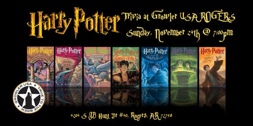 ***RESCHEDULED***Harry Potter (Books) Trivia at Growler USA Rogers