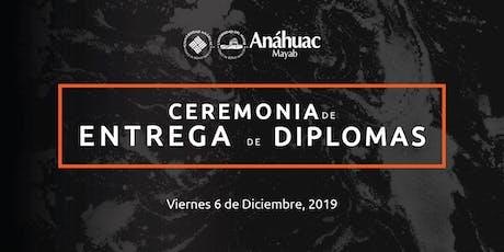 Ceremonia de Entrega de Diplomas Educación Continua Anáhuac Mayab boletos