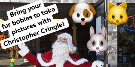 Fur Baby Pictures with Christopher Cringle aka Santa!