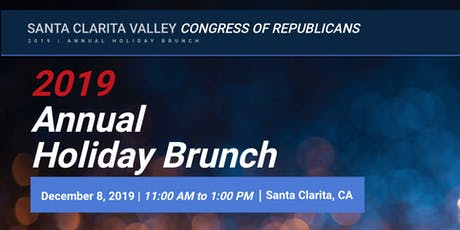 SCVCR   ANNUAL HOLIDAY BRUNCH   2019 tickets