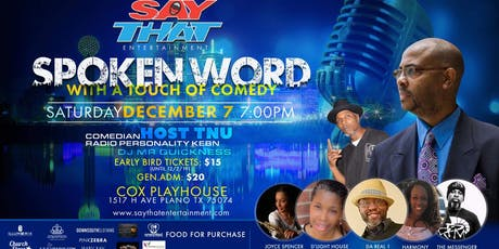 SayThat-Spoken Word with a Touch of Comedy-Plano tickets