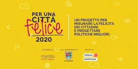 Per una Città Felice → 2020 biglietti
