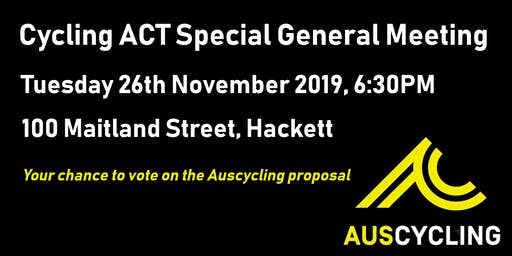 ACT Cycling Federation Special General Meeting