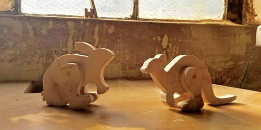 Wooden Toys: Hopping Animals