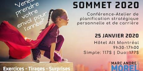 SOMMET 2020 MONTRÉAL : Conférence-Atelier de planification stratégique personnelle et de carrière billets