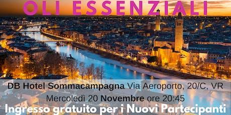 Verona Corso Gratuito sugli Oli Essenziali biglietti