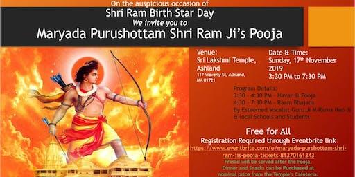 Maryada Purshottam Shri Ram Ji's Pooja