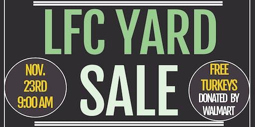 LFC 2019 Yard Sale and FREE Turkey Giveaway